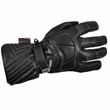 Armr WPL330 Winter Leather Motorcycle Gloves Breathable Motorbike Glove Black