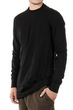 RICK OWENS DRKSHDW New Men black Long sleeve Tee HUSTLER LAYERED t-shirt NWT