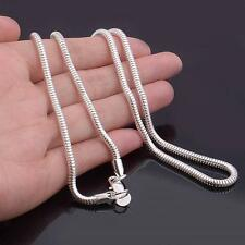 Punk Charming Silver Plated Snake Chain 3mm Necklace