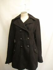 Guess Double Breasted Wool blend Pea Coat  Black  NWT