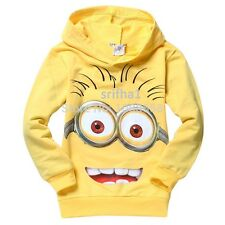 NEW DESPICABLE ME 2 MINIONS BOYS CHILDREN CLOTHES CHILD KID HOODIES T-SHIRT TOPS
