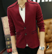 Stylish Men's Coat Cardigan Casual Outwear Two button Slim Suit Jacket NEW