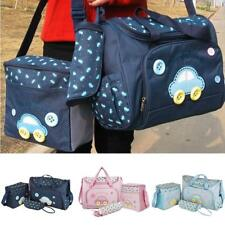 4Pc/Set Multicunction Baby Nappy Changing Bag Diaper Changing Handbag Mummy Tote