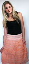 Womens Skirt Sale Pink Black Tiered Lace Lined Party Popular Skirt NWT Fashion