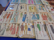 ALL SZ 16 U PICK SEWING PATTERNS MORE THAN PICS 1960S MADMEN STRAIGHT WIGGLE