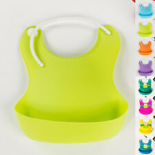 Infant Waterproof Silicone Baby Aprons Feeding Lunch Bibs Saliva Unisex Kids New