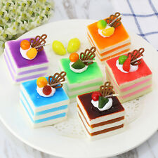 Vividly Squeeze Squishy Soft Fake Fruit Cake Squishies Charms Phone Accessories