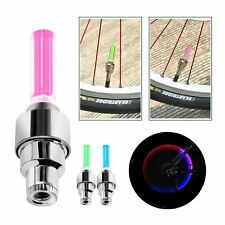 1 Pair Bike Car Motor Wheel Tyre Tire Valve Cap LED Light Spoke Flashing Lamp UK