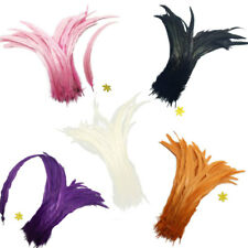 Wholesale 10PCS Dyed Rooster Tail Feathers 35-40cm Beautiful Craft Feather