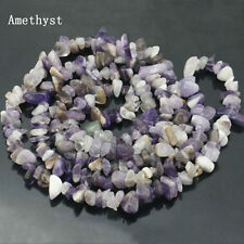 Wholesale Natural Amethyst Gemstone Chips Freefrom Loose Beads Strand 15""
