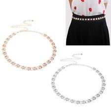 women Rhinestone belt chain Fashion metal thin elastic waist skinny belt chain