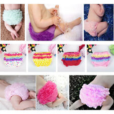 Baby Girls Infant Toddler Soft Panties Bloomers Ruffle Diaper Nappy Covers 3-24M