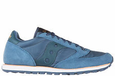 SAUCONY MEN'S SHOES SUEDE TRAINERS SNEAKERS NEW JAZZ LOW PRO BLUE 5CA