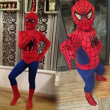 Red Spiderman Costume Outfit Onepiece Suit Adult Kid Superhero Party Dress Black