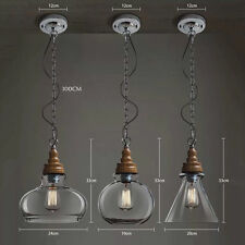 Creative Glass Ceiling Vintage Style Light Industrial Chandelier Lampshade Cafes