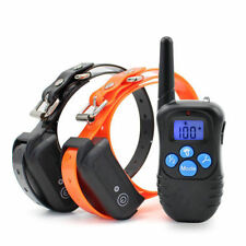 Rechargeable Waterproof 100LV Shock Vibra Remote Control 1/2 Dog Training Collar
