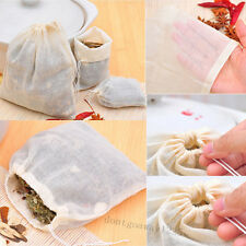 10/100pc 8x10 Cotton Muslin Reusable Drawstring Bags Soap Herb Tea bag Packing A