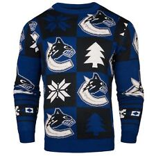 Vancouver Canucks NHL 2016 Patches Ugly Crewneck Sweater