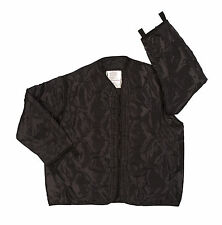 BLACKM-65 FIELD JACKET LINER BLACK QUILTED NYLON MADE IN USA SIZE XLARGE