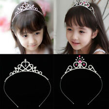 Shiny Wedding Party Flower Girl Crown Crystal Princess Tiara Headband Jewelry