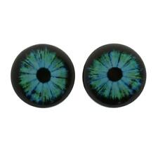 Punk Blue Eye Earring Plug Screw Flesh Tunnel Ear Gauges Body Piercing Jewelry