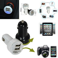 Universal 1A+2.1A 2-port USB Car Charger LED Power Adapter For iPhone Samsung