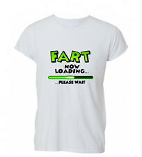 Fart Now Loading Please Wait Funny Rude Ladies Mens Tshirt T-shirt Womens