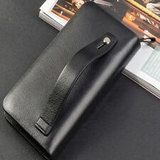 Designer Leather Slim Wallet with Clip for Business id Credit Card Coin Purse Ho