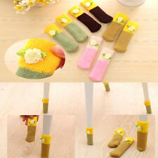 4pcs Elastic Cute Floor Protector Knit Chair Table Leg Foot Sock Sleeve Cover CL
