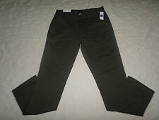 GAP KHAKI CHINO PANTS MENS UTILITY SLIM FIT SIZE 32X32 OLIVE COLOR ZIP FLY NWT