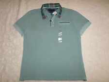 TOMMY HILFIGER POLO CUSTOM FIT T-SHIRT MENS SIZE L MINERAL BLUE NEW WITH TAGS