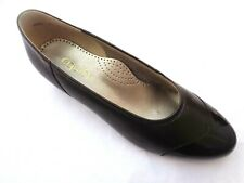 """NEW EQUITY """"PAT"""" BRONZE PATENT/BROWN LEATHER SMART COURT SHOES UK7.5E"""
