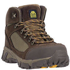 McRae Industrial Mens Brown 6in Steel Toe Leather Work Boots Lace-Up