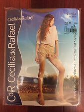 CdR Cecilia de Rafael SHEER to WAIST glossy/shiny Pantyhose/tights BEIGE *XL*