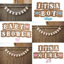 It's a Girl/Boy Baby Shower Banner Bunting Garland Rustic Letter Party Decor