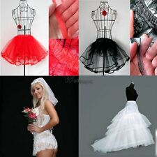 Pettiskirt Tutu Petticoat Skirt Swing Rockabilly Pinup 3-Layers Wedding WT88