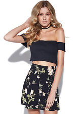 New LUCK Womens & TROUBLE Nice Skirt Black