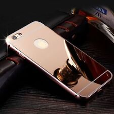 Luxury Aluminum Ultra-Thin Rosegold Mirror Metal Case For iPhone 6 6S{pp196