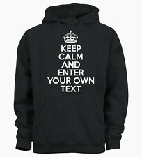 PERSONALISED YOUR TEXT KEEP CALM AND CUSTOM Hoody Hoodie Mens Womens Ladies