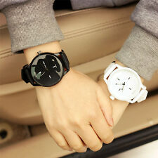 Lovers Jelly Soft Silicone Strap Band Wrist Watches Quartz Large Dial