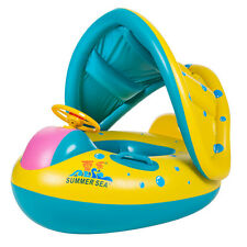 Baby Float Seat Boat Swim Ring Swimming Pool Inflatable Portable Yellow