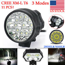 Waterproof 28000LM 11 x CREE XM-L T6 LED 8 x 18650 Bicycle Cycling Light Lamp