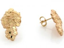 10k / 14k Solid Yellow Gold 1.2cm Nugget Pin Earrings