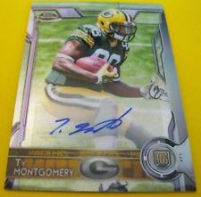 2015 TOPPS CHROME TY MONTGOMERY ROOKIE BLUE AUTOGRAPH GREEN BAY PERFECTION!