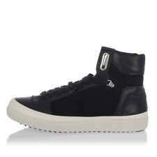 PANTOFOLA D'ORO New Men Black sneakers Laced Shoes Leather Made in Italy NWT