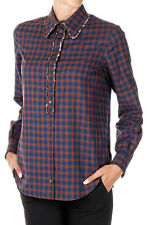 n 21 New Woman checked Sequins Embellished Cotton Shirt NWT