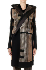 RICK OWENS Women EMBROIDERED SPHYNX CABAN with Sequins Made in Italy