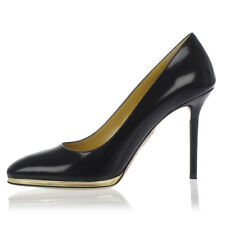CHARLOTTE OLYMPIA New woman Black 10 cm Heel Leather Pumps Shoes Made Italy NWT