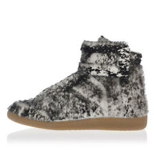 MARTIN MARGIELA MM22 Man Leather High-top Sneakers FUTURE Real Fur Made in Italy