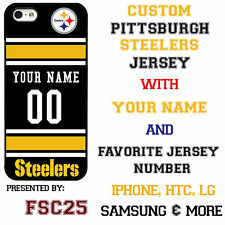 Custom PITTSBURGH STEELERS Phone Case Cover w Your Name & Jersey Number IPhone